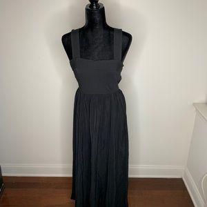Anthropologie Maeve Black Jumper Open Back Dress